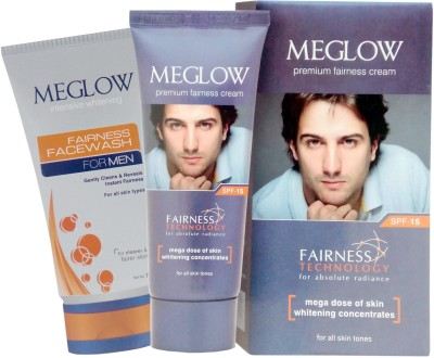 Meglow Premium Fairness Cream and Face Wash(100 g)  available at flipkart for Rs.165