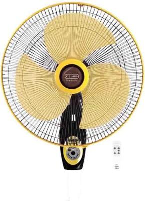 V-Guard Finesta RW 400mm Remote 400 mm 3 Blade Wall Fan(Black, Yellow)