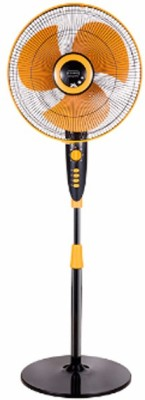 V-Guard Wilma STS 400mm Yellow 3 Blade Pedestal Fan(Yellow)