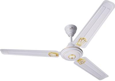 Bajaj New Bahar Deco 1200 mm White 3 Blade Ceiling Fan(WHITE)