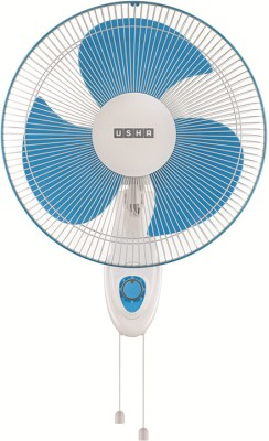 Usha Helix Pro high speed Wall Fan 3 Blade Wall Fan(White, Blue)  available at flipkart for Rs.2589