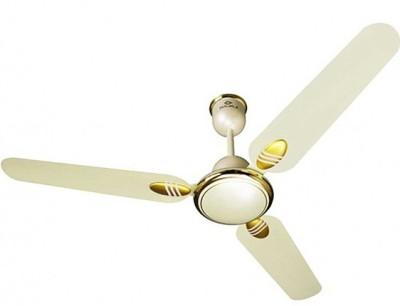 Bajaj Grace Dlx 3 Blade Ceiling Fan(Yellow, Gold)