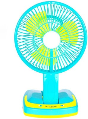 Jy Super Rechargeable Ac-Dc 2 Speed And 21 SMD Light 3 Blade Table Fan(Multi Color)  available at flipkart for Rs.899