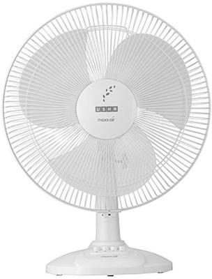 Usha Maxx Air 400mm 3 Blade Table Fan(White)