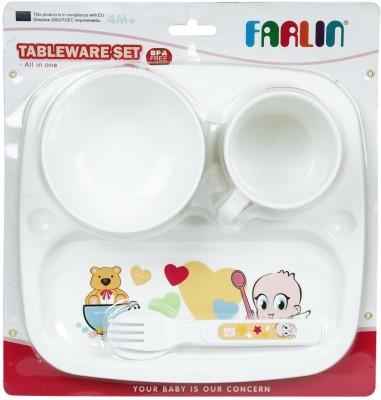 Farlin Tableware Set  - Plastic(White)