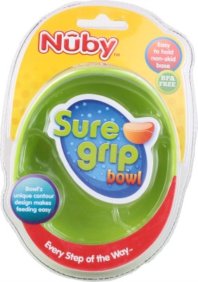 Nuby Microwavable Bowl  - Plastic(Green)