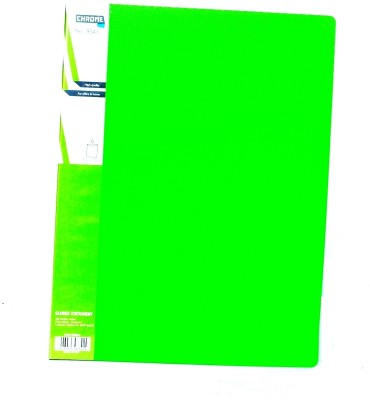 Chrome Files & Folders Plastic Display Book(Set Of 3, Green)  available at flipkart for Rs.280