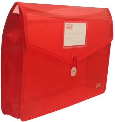 Saya Office Series Polypropylene Clear Bags And envelopes(Set Of 1, Red)  available at flipkart for Rs.125