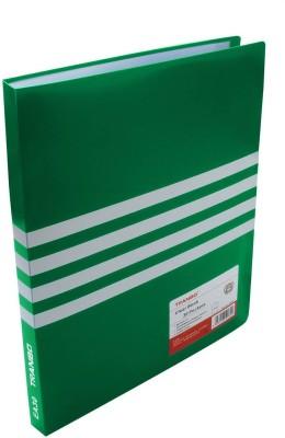 TRANBO Polypropylene Clear Book 30 Pocket File Folder Display Presentation Book(Set Of 1, Green, White)  available at flipkart for Rs.249