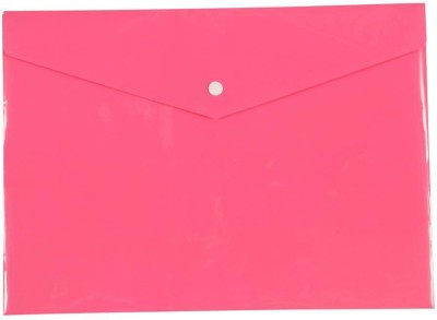 Saya Office Series Polypropylene Clear Bags And Envelopes(Set Of 12, Light Pink)