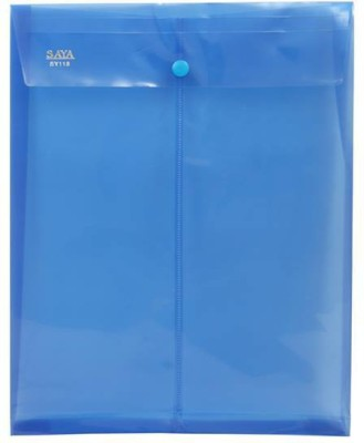 Saya Office Series Polypropylene Clear Bags And Envelopes(Set Of 12, Blue)