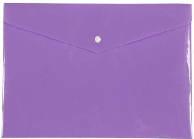 Saya Office Series Polypropylene Clear Bags And Envelopes(Set Of 12, Violet)