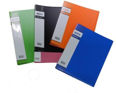 Y.E.S Executive Series Polypropelene Clip Files(Set Of 5, Multicolor)