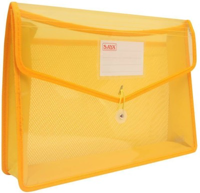 Saya Office Series Polypropylene Clear Bags And Envelopes(Set Of 1, Yellow)