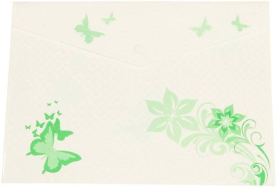 Saya Office Series Polypropylene Clear Bags And Envelopes(Set Of 12, Green)