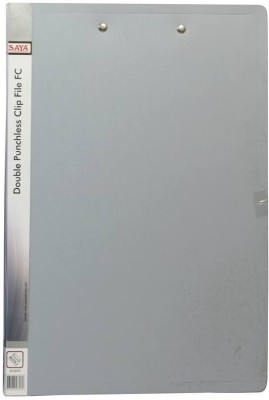 Saya Office Series Polypropylene Clip Files(Set Of 1, Grey)  available at flipkart for Rs.110