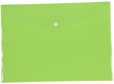 Saya Office Series Polypropylene Clear Bags And Envelopes(Set Of 12, Parrot Green)