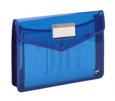 Trio FB100 Polypropylene File Document Case Bag Snap Button FC(Set Of 2, Blue)  available at flipkart for Rs.215