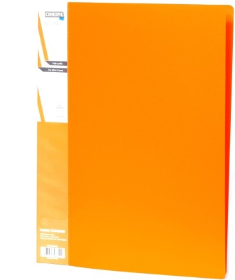 Chrome Files & Folders Plastic Display Book(Set Of 3, Orange)  available at flipkart for Rs.280