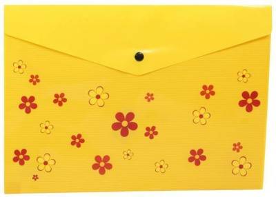 Saya Office Series Polypropylene Clear Bags And Envelopes(Set Of 12, Yellow)