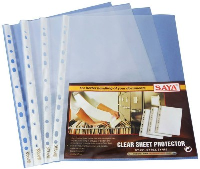 Saya Office Series Polypropylene Clear Holders(Set Of 50, Transparent)