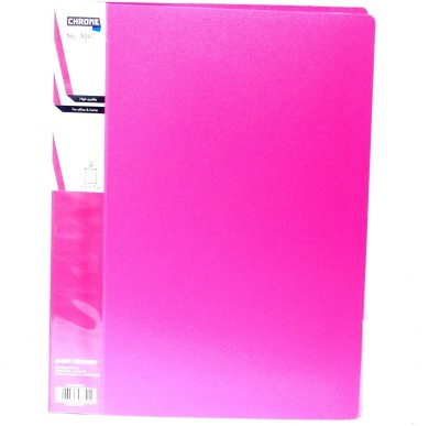 Chrome Files & Folders Plastic Display Book(Set Of 3, Pink)  available at flipkart for Rs.280