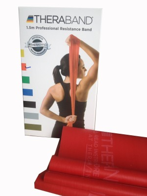 Thera Band Latex Free Resistance Band Red Thera Band Fitness Bands