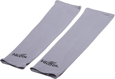 DeNovo HiCool UV Protection Arm Sleeves (1 Pair) Fitness Band(Grey)  available at flipkart for Rs.109