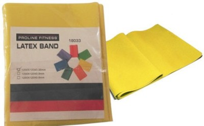 Proline Latex Band Resistance Band(Yellow, Pack of 1)  available at flipkart for Rs.138