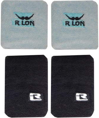 R Lon Wrist Support Combination Fitness Band White, Grey, Pack of 4 R Lon Fitness Bands