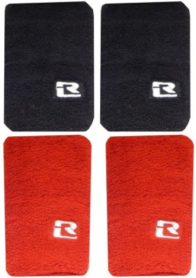 R Lon Wrist Combination Fitness Band Red, Black, Pack of 4 R Lon Fitness Bands