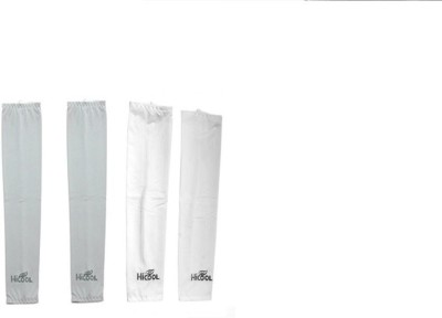 Gee Power Hi Cool Sunlight UV Protection Arm Sleeves (Set of 2 Pairs) Fitness Band(White, Grey, Pack of 2)  available at flipkart for Rs.189