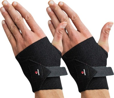 Omtex Adjustable Hand/Thumb Support Hand Grip/Fitness Grip Black