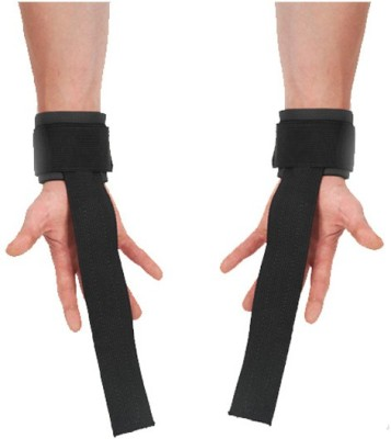 KING FITNESS ULTIMATE WEIGHT LIFTING STRAPS FOR PROFESSIONAL WORKOUT 2 PCS SET Fitness Grip(Black) at flipkart