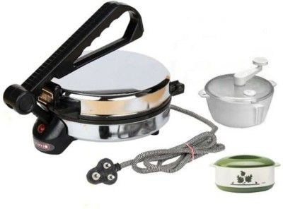 Deemark Dough Maker & Casserole Combo Pack Roti/Khakhra Maker(Black)  available at flipkart for Rs.1469