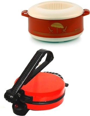 ECO SHOPEE COMBO OF EAGLE RED ROTI MAKER WITH CASSEROLE Roti/Khakhra Maker(Red)