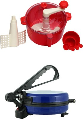 ECO SHOPEE COMBO OF EAGLE BLUE ROTI MAKER WITH RED DOUGH MAKER Roti/Khakhra Maker(Blue) at flipkart