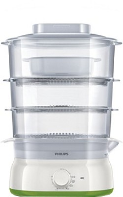 Philips HD9125/00 Food Steamer(White & Green)