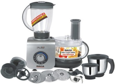 Inalsa Maxie Premia 800 W Food Processor(Black)