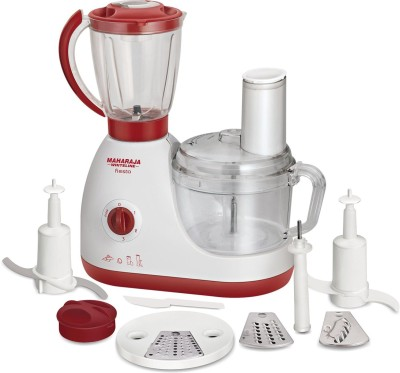 Maharaja Whiteline FIESTA 600 W Food Processor(Red, White) at flipkart
