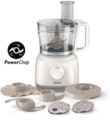 Philips HR7627/00 650 W Food Processor(White)