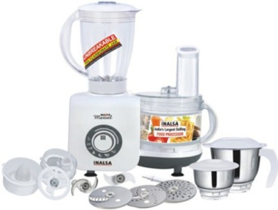 Inalsa Maxie Marvel 800 W Food Processor(White) at flipkart