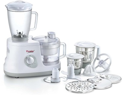 Prestige All Round 600 W Food Processor(White)