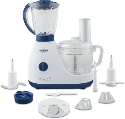 Maharaja Whiteline Fortune FP - 102 600 W Food Processor(White & Mystic Blue)