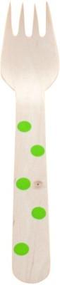 Funcart Polka Dot Cutlery Utensil Disposable Wooden Dessert Fork Set(Pack of 10) at flipkart