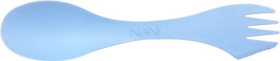 NANI NANI'S BIG TRINO (SPOON + FORK + KNIFE) [BLUE] (PACK OF 25) Plastic Soup Spoon, Ice-cream Spoon, Serving Spoon, Dessert Spoon, Salad Spoon, Table Spoon, Cheese Spoon, Sugar Spoon, Cream Spoon, Tea Spoon, Dessert Soup Spoon, Yoghurt Spoon Set(Pack of 25)  available at flipkart for Rs.190