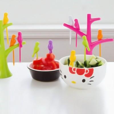 HitPlay Gourment Plastic Fruit Fork Set Pack of 7 HitPlay Forks