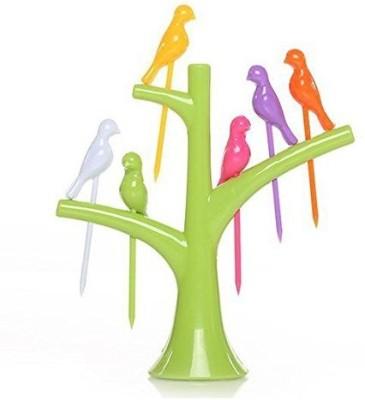 Birdie Plastic Fruit Fork Set Pack of 7 Birdie Forks