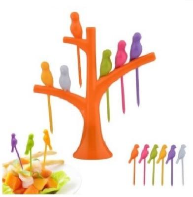 OMRD Birdie Plastic Fruit Fork Set(Pack of 7)