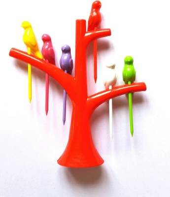 PremiumDeals Plastic Fruit Fork Set(Pack of 7)  available at flipkart for Rs.81
